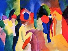 AUGUST MACKE WITH YELLOW JACKET OLD MASTER ART PAINTING PRINT POSTER 345OMA