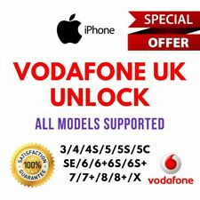 VODAFONE UK FACTORY UNLOCK SERVICE CODE for iPhone X/XR/XS/XS Max /8/8+/7/7 plus