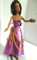 Barbie Brown Hair flat feet brown skin pink dress