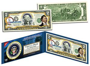 JAMES MONROE * President 1817-1825 * Colorized $2 Bill US Genuine Legal Tender