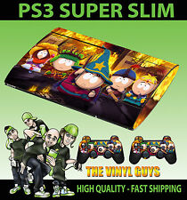 Playstation Ps3 Super Slim South Park Stick Of Truth Skin Sticker & 2 Pad Skin