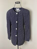 Vintage 80s Womens Christian Dior Suit Seperates Polka Dot Buttoned Top Size 10