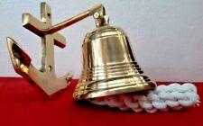 Big Brass Door Bell Wall Hanging Mount Nautical Brass Ship Anchor Clamp Gift