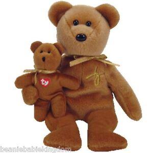 Ty Beanie Baby * 2005 SIGNATURE * Annual Teddy Bear 40285 - RARE 2 teddies in 1