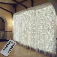 3M 300 LED Curtain Fairy String Lights Window Wedding Home Display + Controller