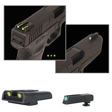 NWT Truglo TFO S&W M&P & SHIELD Tritium Fiber Optic NIGHT SIGHTS YELLOW / GREEN