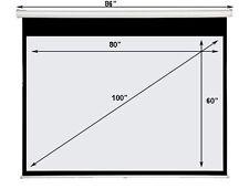 "Maxstar 4:3 Format 100"" e-z Pull Down Manual Projector Screen Matt White"