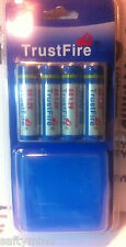 "Brand New ""4""  TrustFire 1.2V 2500mAh Rechargeable NiMH AA Battery, w/ Case"