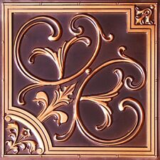 Faux tin ceiling tile #204 Antique Copper ( for Glue Up or Drop In application)