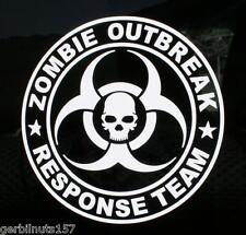 "Zombie Outbreak Response Team Decal 4"" Apocalypse hunter vehicle vinyl sticker"