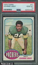 1976 Topps Football #41 Johnnie Gray Packers PSA 10 GEM MINT