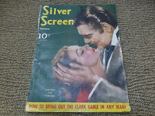 Feb. 1940 Silver Screen Magazine Clark Gable Vivian Leigh GTW Gone With the Wind