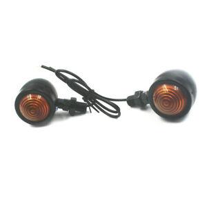 Black Bullet Motorcycle Turn Signal Indicator Lamp Blinker Light For Harley KTN