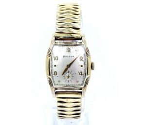 Vintage Antique Swiss BULOVA L6 B739494 10K Gold RGP 11AC 17 Jewel Winding Watch