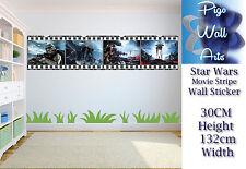 Star Wars wall art sticker Children's Bedroom Film Stripe decal wall art.