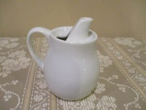 White Creamer with Top Spout, Made in Japan (1pc)