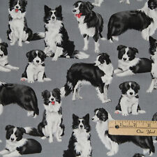 Border Collie Dogs Dog Cotton Fabric 1/2 Yard #C7365