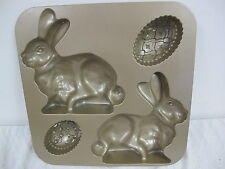 NORDIC WARE BUNNY CAKE PAN 9.5 CUPS EASTER SPRING RABBIT EGG 3D WILLIAMS SONOMA