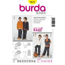 Burda Kids Jogging Suit Hooded Top Fabric Sewing Pattern 9672