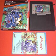 MSX Crazy Train [PAL Complet] Rare Jeu Sony Canon *JRF*