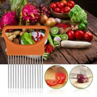 Stainless Steel tomato Slicer Vegetable Onion Holder Cutter Kitchen Tools Gadget