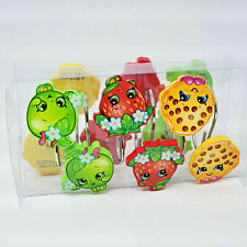 Shopkins Shower Curtain Hooks 12 Pieces Apple Strawberry Cookie