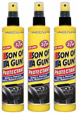 3 x STP Son Of A Gun Car Dashboard Plastic Vinyl Rubber Leather Shine Protectant