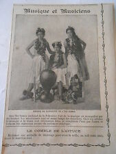 Musique Groupe de danseuses de L'ile Samoa Polynésie Image Print 1909