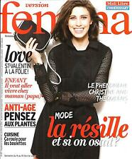 VERSION FEMINA N°671 9 FEVRIER 2015 MODE RESILLE/ CHRISTINE AND THE QUEENS/ LOVE
