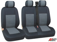 GREY BLACK FABRIC SEAT COVERS 2+1 FOR VW VOLKSWAGEN CADDY NEW