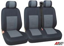 Gris Tela Negra FUNDAS ASIENTO 2+1 Para Vw Volkswagen Caddy NUEVO