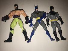 Batman Lot Of 3 Figuras de Acción 15.2cm 16.5cm Al Azar Mixto 2015 1999 1998