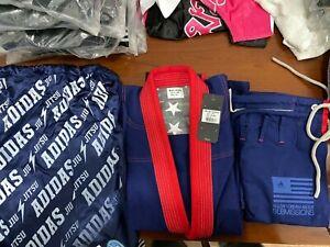 adidas Stars & Stripes A0 Jiu Jitsu Gi Navy Blue w/Gi Bag