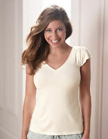 Bravissimo Cap Sleeve Top Nightwear NW101 with integral support in Ivory (70)