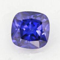Blue Tanzanite 8x8mm 3.92ct Cushion Faceted Cut Shape AAAAA VVS Loose Gemstone