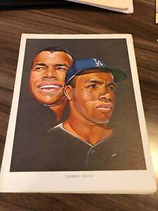 Tommy Davis 1964 Union 76 Nicholas Volpe Print Los Angeles Dodgers