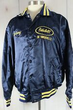 Vintage 1970's Satin Jacket Peterbilt Trucker Knoxville Johnny Patch Blue Sz XL