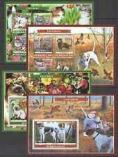 PE 2019 BURKINA FASO FAUNA DOMESTIC ANIMALS PETS !!! 2KB+2BL mnh
