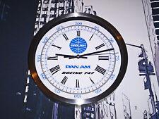 Pan Am Airways, Boeing 747 Wall Clock, Retro 1960-70's Vintage Dial.