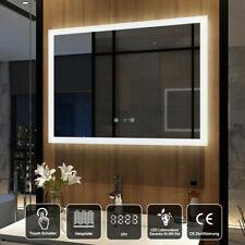 Led Badspiegel mit Uhr Touch Beschlagfrei Wandspiegel 80x60 cm Badezimmerspiegel