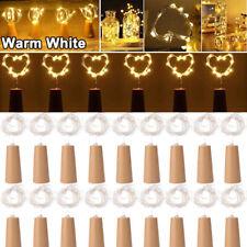 3M 30 LED Wine Bottle Fairy String Light Cork For Party Christmas Wedding US