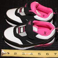 Danskin Now Toddler Athletics Tennis Shoes Girls Size 8 White/Black/Pink