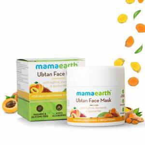 Mamaearth Ubtan Face Mask For Skin Lightening & Brightening & Tanning 100 gm