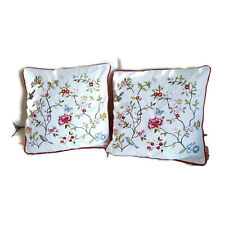 Set of 2 Embroidery Floral pillow Home Decorative Cushion cover case 45CM X45CM