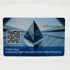 """Ethereum Card PVC Plastic """"Paper"""" Wallet Durable SAFE and SECURE Cold Storage"""