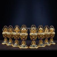 "8  Auspicious Symbols  Statue Tibet Tibetan  Buddhia Offering  Buddhist  5.9"""