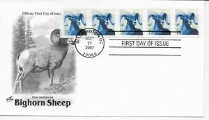 US Scott #4140, First Day Cover 5/21/07 Washington Plate #S111111 Coil of 5