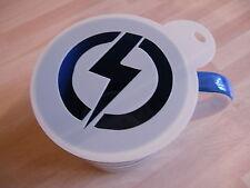 Laser cut flash lightening design coffee and craft stencil
