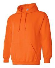 7 Gildan Safety Orange Adult Hooded Sweatshirts Bulk Wholesale Lot S-XL Hoodie