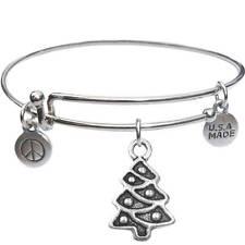 - Usa Made - BbandJt149 Bangle Bracelet and Christmas Tree